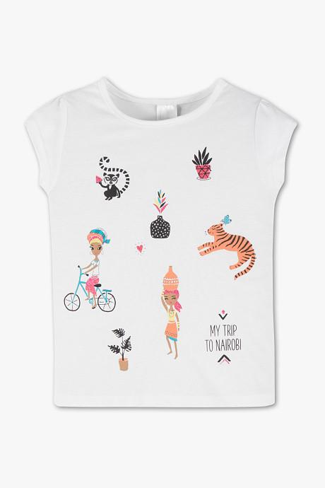 Детская белая футболка на девочку 3 года C&A Германия Размер 98