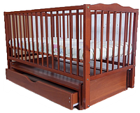 """Детская кроватка для новорожденных Веселка ТМ """"Дубок"""" маятник, ящик"""