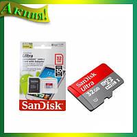 Ultra  sandisk +адаптер 32GB!Акция