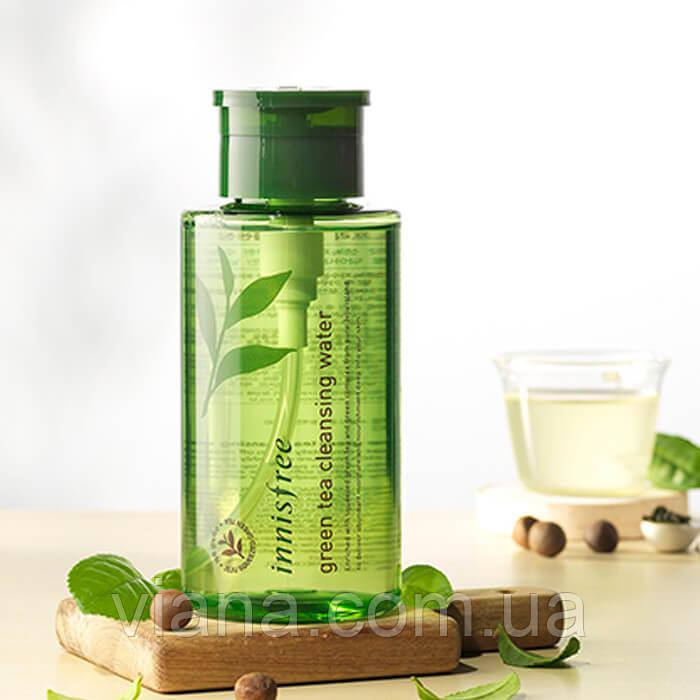 Мицеллярная вода с экстрактом зел чая Innisfree Green Tea cleansing water 300 мл