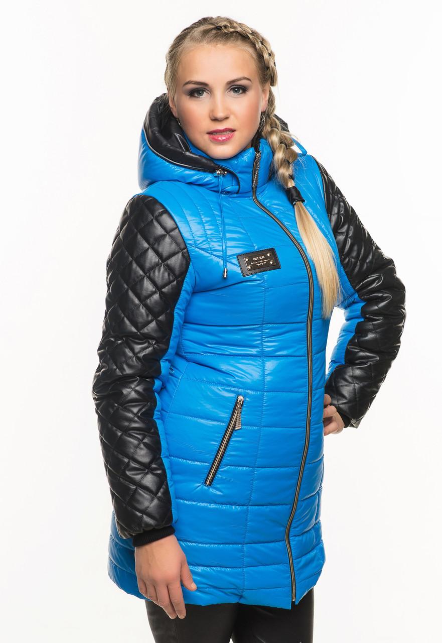 b43902dc77e Женская куртка с стегаными рукавами зимние куртки недорого - супермаркет  матадор в Киеве