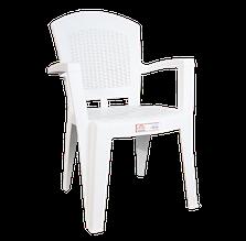 Крісло irak plastik afrodit біле
