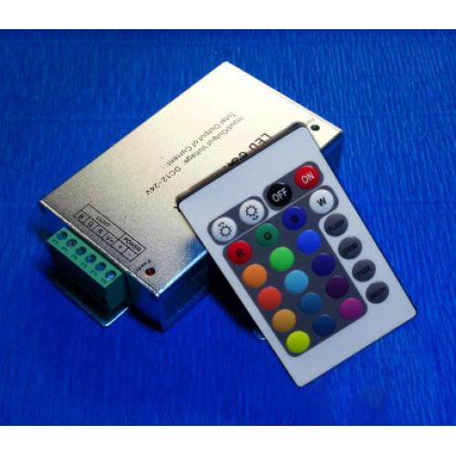 Контроллер rgb 24А 12-24В с ИК пультом управления 24 кнопки №64