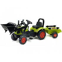 Трактор педальный с ковшом и прицепом CLAAS ARION Falk 2040AM