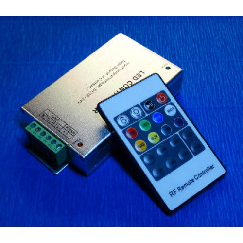 Контроллер rgb 12А 12-24В с RF пультом управления 20 кнопок №11