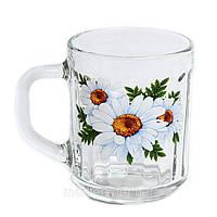 Кружка Гусь Хрустальний Green Tea 200мл стекло (07с1335 Букет ромашок)