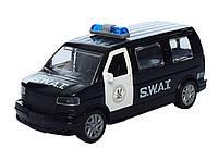 Машинка 819UW металева, поліція, відчиняються двері, в коробці, 16,7,5-6,5 см