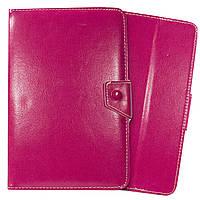 Чехол книжка подставка универсальная для планшетов 8 / 9 дюймов для планшета Xiaomi Lenovo Samsung (Розовый)