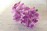 Декоративные цветы лилии диаметр 5 см, сиреневого цвета, фото 1