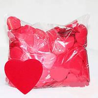Конфетті серця ЧЕРВОНІ. Упаковка 10 грам