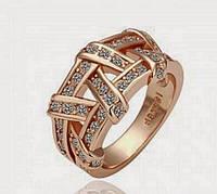 Позолоченное кольцо с фианитами код 321 р 17
