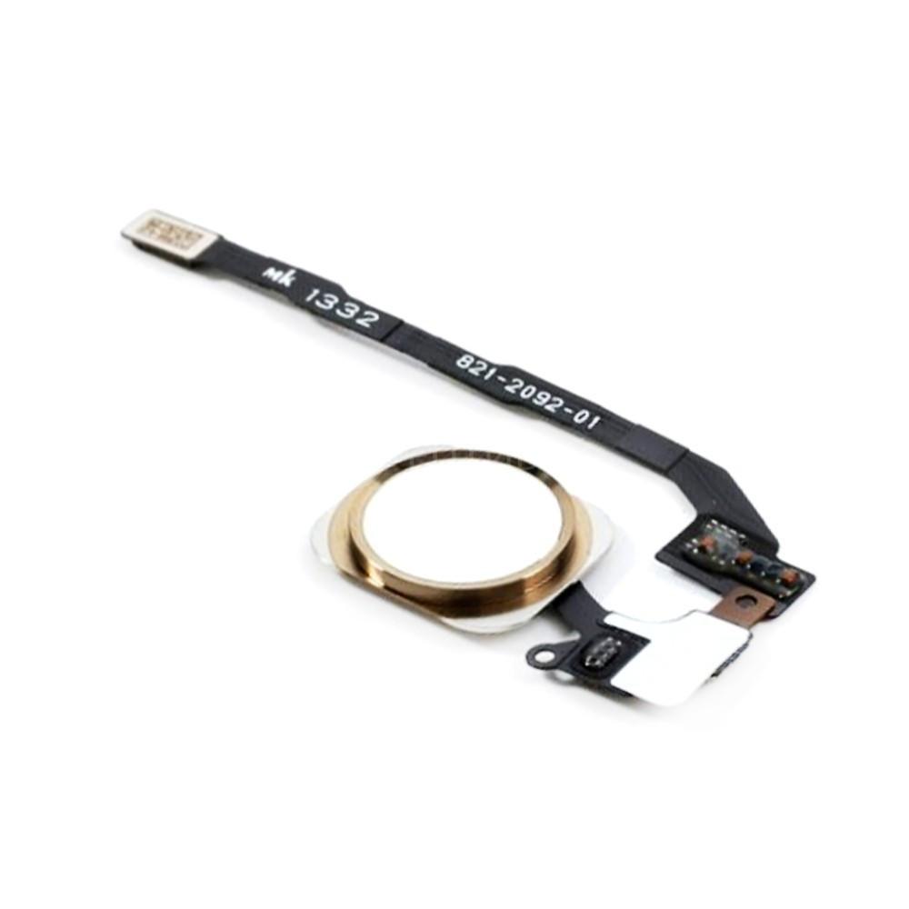 Шлейф для Apple iPhone 5S/SE, с кнопкой меню (Home) и золотой пластиковой накладкой Оригинал