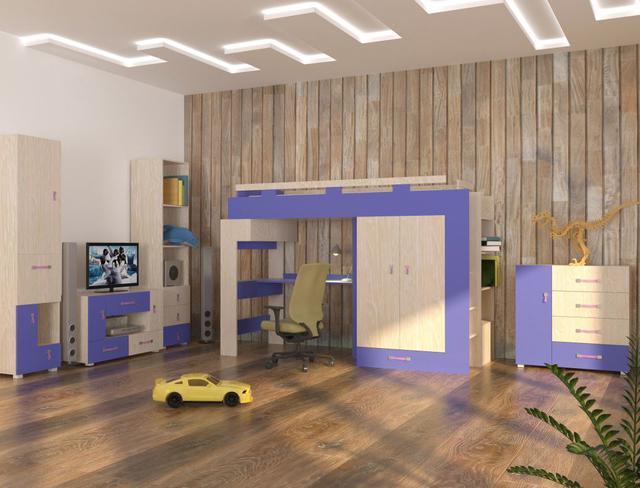 Детская комната Snoopy цвет дуб атланта / синий (комплект 1)