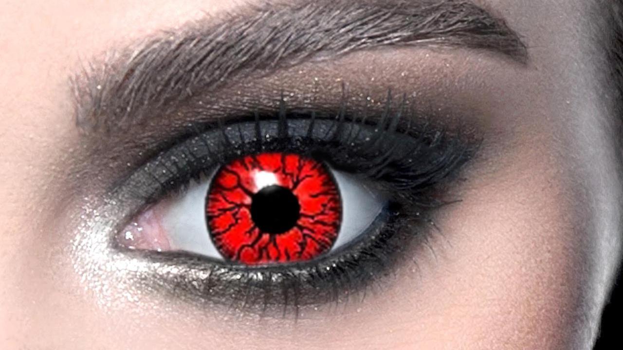Линзы Темные Красные