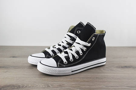 0d4ff7b9b8ac Кеды Converse Chuck Taylor All Star Black High Top (Топ реплика ААА ...