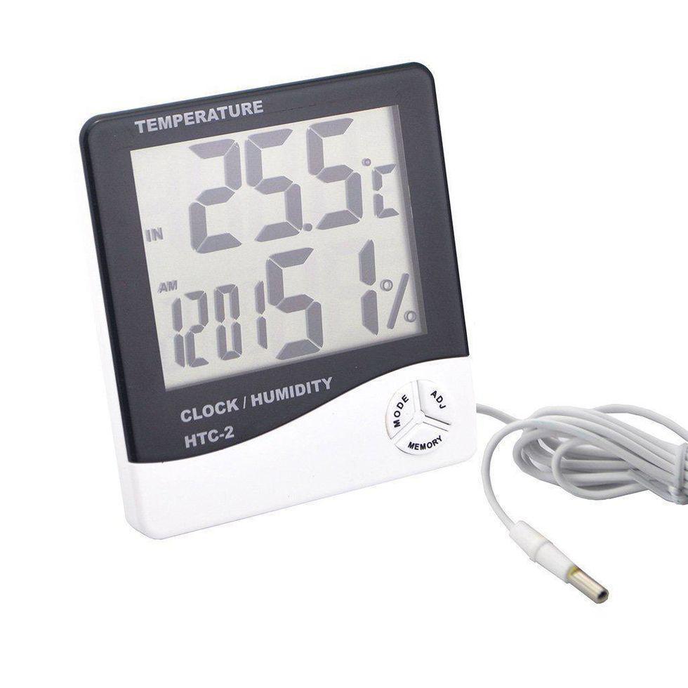 Часы термометр гигрометр + выносной датчик HTC-2