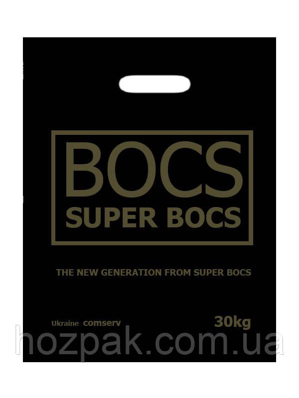 """Пакет с прорезной ручкой """"Super bocs"""" 37х46см 25шт."""