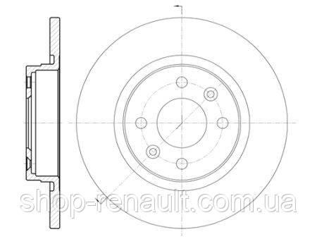 Диск тормозной невентилируемый 259х12 Logan II 1.2 - 1.5DCI Roadhouse 6809.00
