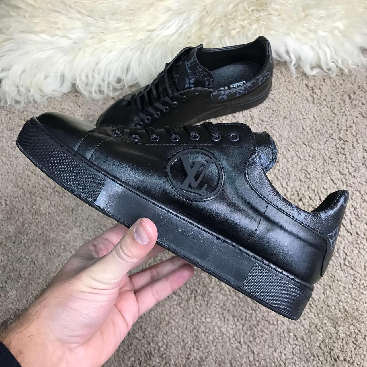 72095248cebec Мужские кроссовки Louis Vuitton Rivoli Black (Топ реплика ААА+) - Siwer -  Интернет