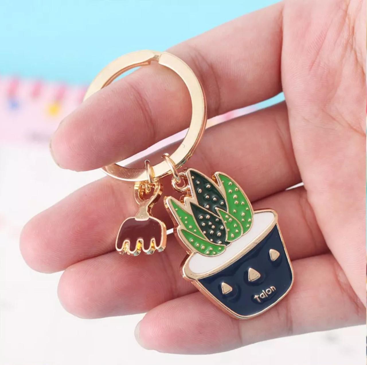 Стильный брелок для ключей в форме растения «Кактус» (грабли)