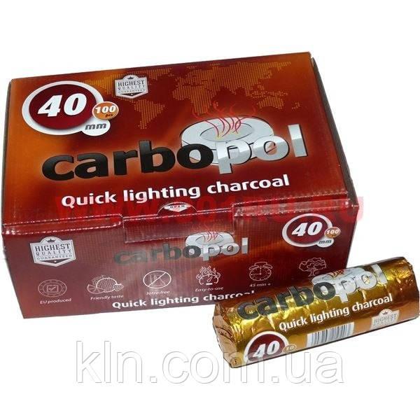 Уголь быстроразгорающийся для кальяна 10 шт Carbopol 40 мм