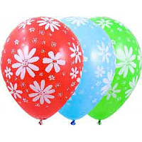 """Воздушные шары """"Ромашка"""" 12""""(30см) Пастель Ассорти В упак:50 шт. Пр-во: Belbal (Бельгия)"""