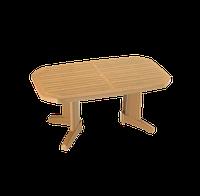 Стол papatya лагуна плюс 100X165 тик под дерево
