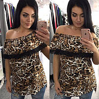Блуза женская леопард 1106