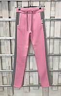 Теплые женские брюки от UGG Australia, бледно-розовые с серыми лампасами