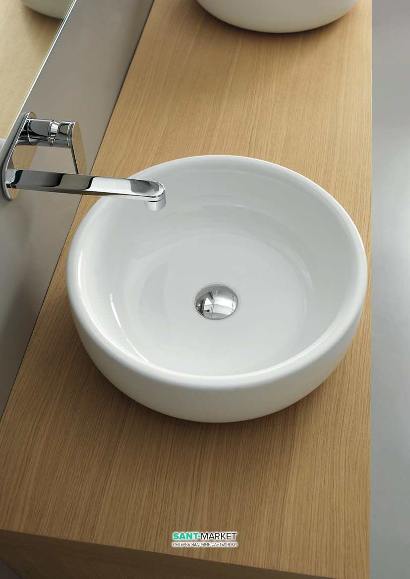 Раковина для ванной накладная Flaminia коллекция Bonola белая BN50A