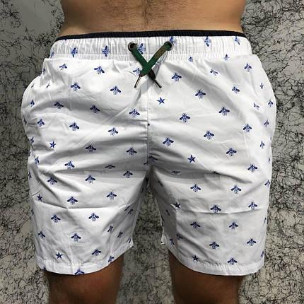 196e3ff0c1d60 Gucci Swimming Trunks Bees and Stars White (Топ реплика ААА+) купить ...
