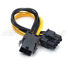 Кабель питания для видеокарты PCI-E 6 pin to 8 pin, 10 см