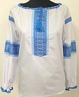 Жіноча сорочка з нашитою вишивкою блакитний орнамент 44 8e184b4c0600e