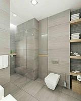 Фото идеи:как разместить стиральную машину в маленькой ванной комнате.