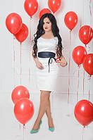 Белое молодежное платье (размер 44-50), фото 1