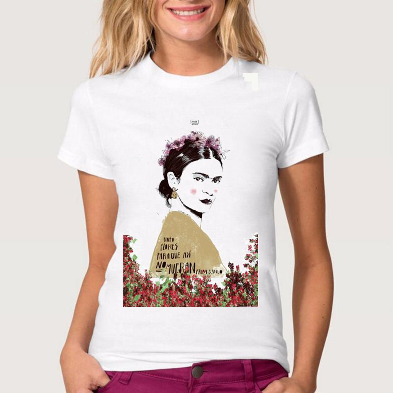 """Футболка жіноча біла з малюнком """"Fridа a Kahlo"""" (копія)"""
