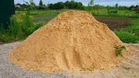 Песок карьерный мелкозернистый насыпью