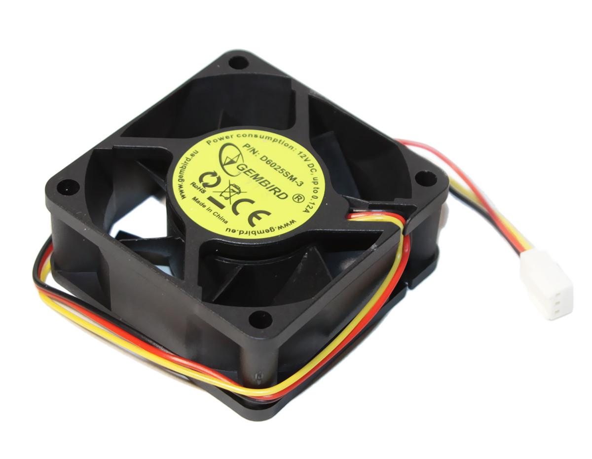 Вентилятор 60 mm Gembird D6025SM-3, система охлаждения для пк, вентиля