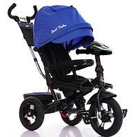 Детский трехколесный велосипед 6088 F Best Trike ПОВОРОТНОЕ СИДЕНИЕ. Синий