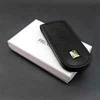 Зажим для купюр кожаный черный Prensiti 93117, фото 1