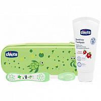 Дорожный набор зубная щетка и зубная паста Chicco Зеленый (06959.00) 26570823f1f2d