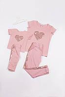 Летний костюм для мамы и дочери Family Look