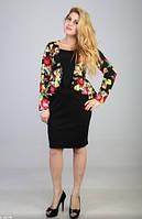 Платье женское Баска-цветы 48-56р