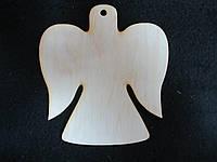 """Заготовка из дерева """"Ангел - подвеска"""" 10*9см 12/10 (цена за 1 шт. +2 грн.)"""