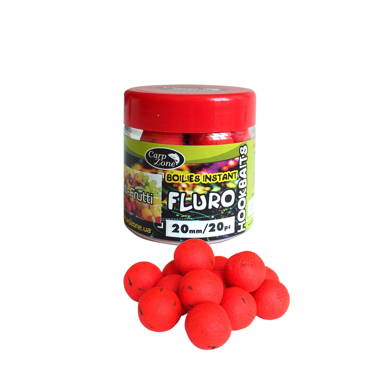 Бойлы насадочные вареные Fluro Boilies Instant Hookbaits Tutti-Frutti (Тути Фрути)