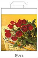 """Пакет з петлевою ручкою 42*50 """"Троянди"""" ХВГ (25 шт)"""