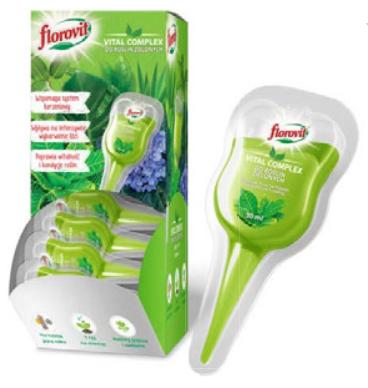 Кондиционер для зеленых растений в аппликаторе Флоровит Vital Complex 30мл, фото 2