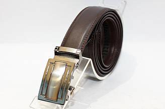 Пояс из кожзама, пряжка автомат. Длина полотна 1150 мм. (12385)