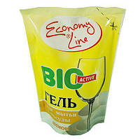 Средство для посуды Economy Line Гель 450г (лимон)