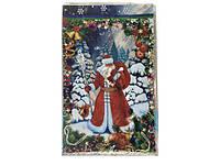 Фольгированный пакет 25см 40см  Дед Мороз с посохом 100 шт